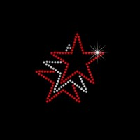 Estrela em cartela c/ 6 pçs - Ref: 3773