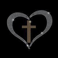 Coração Cruz - Ref: 3413