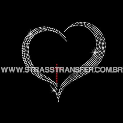 Coração Cruz - Ref: 3945